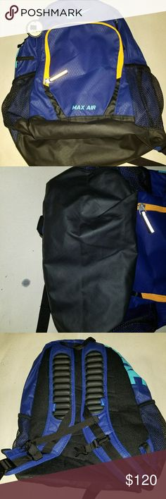 8e2f98852824 Nike Air Max Team Trainer Backpack BA4890-455 100% Authentic. deep Royal  blue
