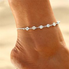 $9.90 | ZG Female Foot Bracelet Bride Anklet Flash Bracelet Jewelry For Women Ankle Leg Jewelry Chain Charm Bracelet Summer Jewelry Outfit Accessories FromTouchy Style | Free International Shipping. Summer Jewelry, Boho Jewelry, Jewelry Sets, Women Jewelry, Foot Bracelet, Ankle Bracelets, Jewelry Bracelets, Chain Jewelry, Teenager Fashion Trends
