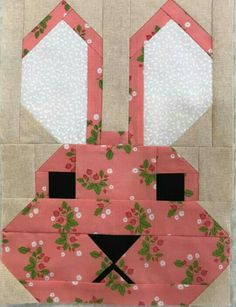 Laura Guy Lane, one of the Bunny blocks for a baby quilt