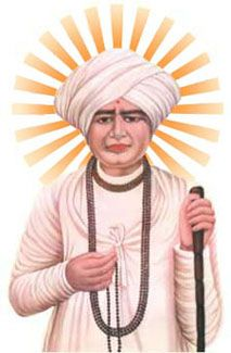 Jalaram (Gujarati: જલારામ) popularly known as Jalaram Bapa (Gujarati: જલારામ બાપા) (4 November 1799 – 23 February 1881) was a Hindu saint from Gujarat, India. He was born on 4 November 1799,one week after the Hindu festival of Diwali, which is associated with his Iṣṭa-devatā Lord Rama.
