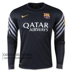 Primera camiseta de manga larga Portero Barcelona 2015 2016 | camisetas de futbol baratas