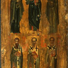 Browse Items · The Sinai Icon Collection Byzantine Icons, Byzantine Art, Religious Icons, Religious Art, Saint Gregory, John Chrysostom, Paint Icon, Religious Paintings, Best Icons