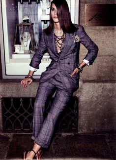 Women's pinstriped suit