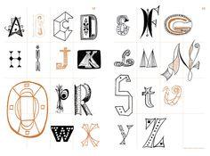 Imre Reiner's typography #typography #graphics #hand_drawn #illustration