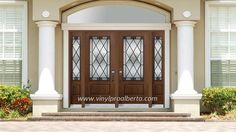 double entry doors with sidelights and transom