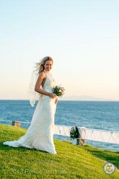 Bride   Mykonos Wedding @ Santa Marina by Stella and Moscha - Exclusive Greek Island Weddings   Photo Petros Sordinas