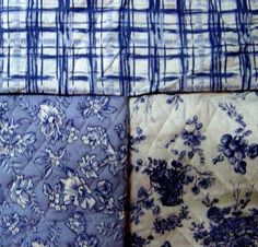 blue and white toile fabric