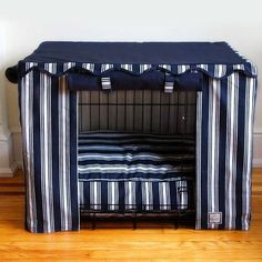 Nautical Stripe Crate Cover and Pet Bed
