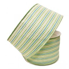 Departments - x White/Lime/Blue Fabric Ribbon Deco Mesh Wreath Supplies, Deco Mesh Wreaths, Fabric Ribbon, Blue Fabric, Buying Wholesale, Easy Crafts, Lime, Spring, Lima
