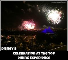 Celebration at the Top is a special fireworks viewing and fine dining experience held at the top of Disney's Contemporary Resort at Walt Disney World.