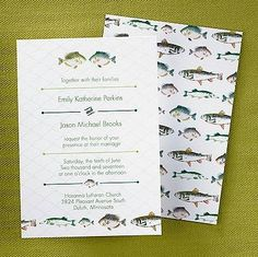 Perfect Catch in Cloverleaf Wedding Invitation