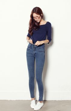 LOVE high waisted jeans!! Not too crazy about the color..