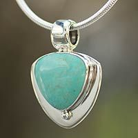 Buy Turquoise pendant necklace, 'Pyramid of Friendship' today. Shop unique, award-winning Artisan treasures by NOVICA, the Impact Marketplace. Sterling Silver Name Necklace, Silver Charm Bracelet, Silver Chain Necklace, Silver Bracelets, Silver Earrings, Pendant Necklace, Cheap Silver Rings, Mens Silver Rings, Tourmaline Jewelry