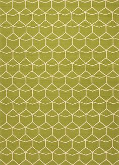 Barcelona Collection Estrellas Rug in Green design by Jaipur