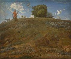 Jean-Francois Millet, In the Auvergne, 1866-69. Oil on canvas.