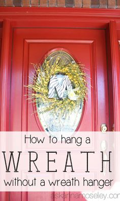 How to hang a wreath on a glass door without a wreath hanger - Ask Anna