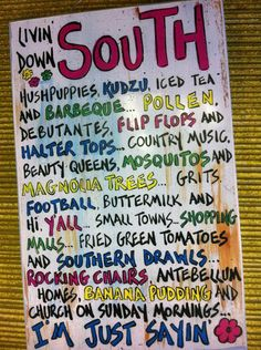 Deep South Dish: Deep South Inspirations    -Southern Hospitality