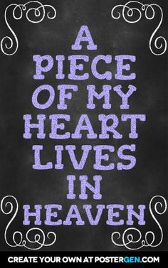 A piece of my heart lives in heaven...Nick