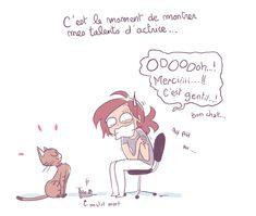 Mon cadeau !   YATUU Living With Cats, English Jokes, Mommy And Son, Can't Stop Laughing, Photo Illustration, Illustrations, Hilarious, Funny, Girls Be Like