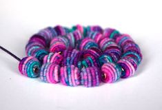 Small Handmade Fabric Textile Beads for by jimenastreasures, $6.50