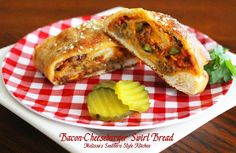 Melissa's Southern Style Kitchen: Bacon-Cheeseburger Swirl Bread