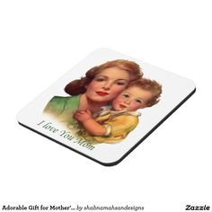 Adorable Gift for Mother's Day Coaster. This is the special gift that would show your mom how much you really love her. Mom will think of you each time she will take her coffee. You can buy her matching coffee cup & matching throw pillow from my shop. For more mother's day cards & gifts click here http://www.zazzle.com/shabnamahsandesigns  #vintage #mom #mother #wonderful #special  #mothersday, #message #love #adorable