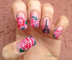 The nails are too long for my liking but I love the flowers.