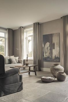 Hoffz-Interieur - Heike Weber - Home and garden - Dekoration Germany Home Living Room, Apartment Living, Living Room Designs, Living Room Decor, Living Spaces, Decoration Chic, Decorations, Home Furniture, Family Room