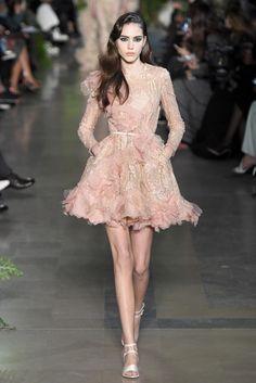 Cute flippy skirt. [Elie Saab Couture Spring 2015 - Slideshow]