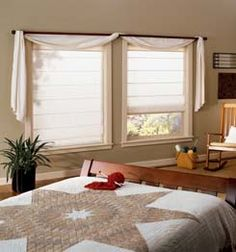 Your source for custom window treatments - curtains, draperies, valances, window shades and swags for your interior decorating needs. We supply you the highest quality window treatments at discounted prices. Family Room Curtains, Dining Room Curtains, Picture Window Treatments, Custom Window Treatments, Window Scarf, Curtains With Blinds, Roman Blinds, Bedroom Windows, Window Coverings