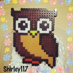 Owl perler beads by shirley117