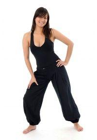 Pantalon droit boule équitable - FZ1118 - 100% pur coton épais du Népal. Idéal pour la mi-saison et l'hiver.