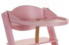 Treppy syöttötuolin pöytätaso, rosa
