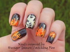 Inspired by Catching fire by BeautyBySuzi - Nail Art Gallery nailartgallery.nailsmag.com by Nails Magazine www.nailsmag.com #nailart