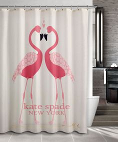 new hot flamingos cute pattern kate spade shower curtain cheap and