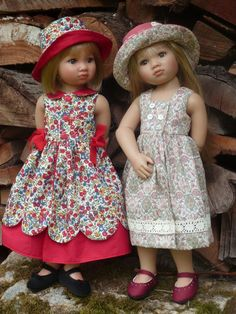 Kidz /N Cats dolls are sooo much prettier than American Girl Dolls! And no cloth neckline, and poseable, too!