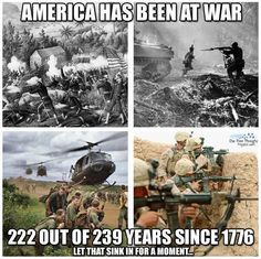 America has been at war 222 out of 239 years since 1776. #Antiwar