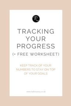 Track your goals and blog/business progress using this FREE worksheet