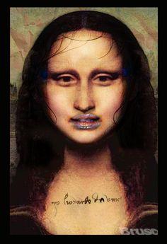 Brus© Mona Lisa, Hair Makeup, Artwork, Alternative, Walls, Paper, Work Of Art, Auguste Rodin Artwork, Party Hairstyles