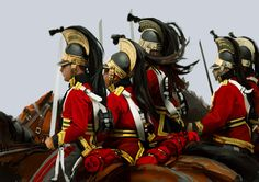 The 1st Royal Dragoons, part of the Union Brigade, Wellington's heavy cavalry at Waterloo