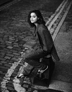 JENNA COLEMAN IN LONDON, DECEMBER 2015 For Interview Magazine | Photography MATT HOLYOAK | Photography MATT HOLYOAK | Stylist NIC JOTTKANDT | SUIT: OLIVER SPENCER (MEN'S). SNEAKERS: (VINTAGE) ADIDAS http://www.interviewmagazine.com/film/jenna-coleman-16-faces-of-2016/#