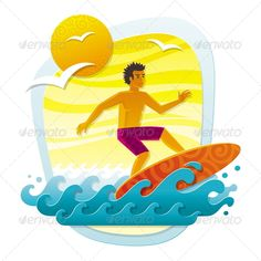Surfer in Tropical Sea  #GraphicRiver         Vector illustration with surfer in tropical sea – imitation of applique from color paper shapes: File contains transparent objects. Included files: .ai (CS4), .eps (10 version), high-resolution .jpeg (4725×4725 pixels).     Created: 7April12 GraphicsFilesIncluded: JPGImage #VectorEPS #AIIllustrator Layered: Yes MinimumAdobeCSVersion: CS Tags: action #activity #applique #beach #cutout #extreme #hawaii #man #men #ocean #outdoor #paper #resort #rest…