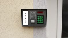DP3000 digitális számkódos kaputelefonok szerelése, szervízelése