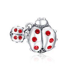 Ladybug Charm 925 Sterling Silver