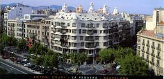 La Pedrera Panoramic Card, Barcelona (For Trade) | Flickr - Photo Sharing!