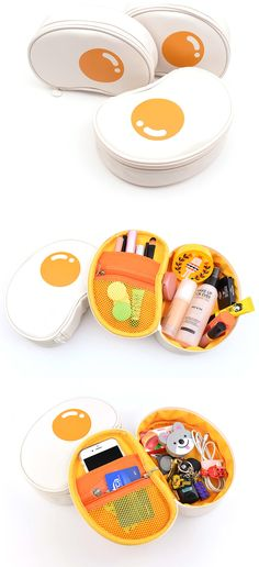 If you are looking for a fun and unique pouch to carry around, check out the Fried Egg Pouch! This adorable pouch is a versatile organizer that has the shape of a fried egg. Not only is it just cute, but also very functional as it has deep compartment and pockets to help you organize better!