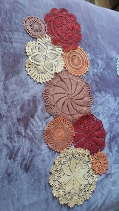 Lace Art, Crochet Tablecloth, Quilting, Barbie, Sewing, Crafts, Tops, Crochet Table Runner, Paths