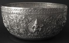Antique Silver Bowl, Thailand. Perfect for sink!!!