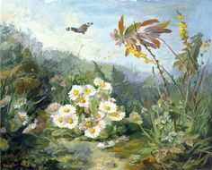 Wild Flowers and Butterfly