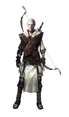 Male Elven Archer by Vynthallas.deviantart.com on @DeviantArt